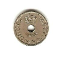 1937  NORWAY Coin 10 ORE