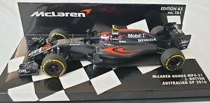 Minichamps 1/43 McLaren Honda MP4-31 Australian GP 2016 Jenson Button 537 164322