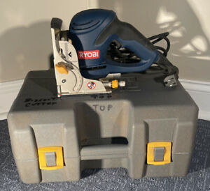 RYOBI JM82 6.0 AMP BISCUIT JOINER WITH DUST BAG AND ORIGINAL CASE GREAT  COND
