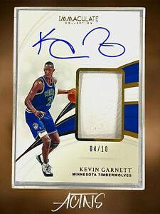 2018-19 Panini Immaculate Collection GOLD KEVIN GARNETT 04/10 SHOES SUPER THICK
