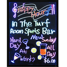 Flashing Illuminated Fluorescent Neon LED Glow Writing Board Menu Sign 32''x24''