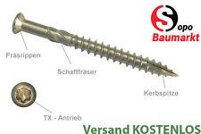 Terrassenschraube in C1 Top-Qualität Durchmesser 5mm und Längen von 40 bis 80mm