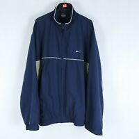 NIKE Vintage Mens Blue Full Zip Lined Windbreaker Jacket SIZE GB 42/44, Large