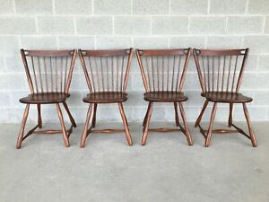 VERMONT OF WINOOSKI MID CENTURY MODERN MAPLE WINDSOR SIDE CHAIRS - SET OF 4