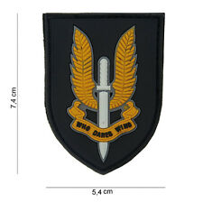 3D PVC Who Dares Wins SAS Special Forces Airsoft Military Army Morale Patch