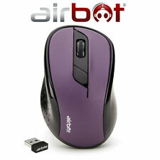 AirBot Wireless Cordless Optical Scroll DPI Mouse Mice PC Computer Laptop Purple