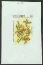 Lesotho 1987 Turkey Flower glossy plastic MASTER PROOF