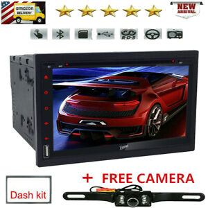 Camera 7inch Double 2DIN Touch Bluetooth DVD/CD Player Car Stereo FM Radio SWC