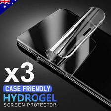 3x HYDROGEL AQUA FLEX Screen Protector Samsung Galaxy S9 S8 Plus Note 8 S7 Edge