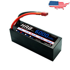 HRB 4S 14.8V 6000mAh LiPo Battery Hardcase 50C 100C for RC Truck Car Buggy US!