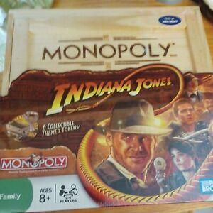 Monopoly Indiana Jones Movie Collectible Board Game Collectible Tokens NIB 3A15