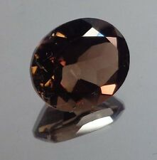Smoky Quartz - Faceted Oval Cut Gemstone - 10.02 x 11.98 mm - 4.52 ctw