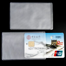 Credit Card Sets Protector Secure Sleeves ID Card Holder  Clear matte 10pcs Hot