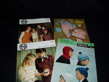 4 x SIRDAR KNITTING PATTERNS, MIXED LOT,  VINTAGE