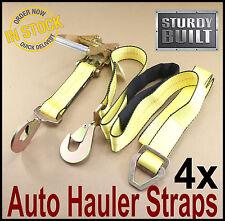 4 Axle Straps Car Hauler Ratchet Race Car Trailer Tie Down Flatbed Hook GRIPON