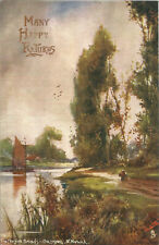 Raphael Tuck & Sons Oilette Postcard #8544 The Norfolk Broads Coltishall P3964