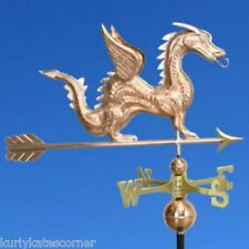 DRAGON WEATHERVANE W/COPPER BALLS & BRASS DIRECTIONALS MADE IN THE USA #375