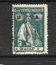 MACAU 1913 2a GREEN CERES    FU   SG 280