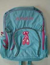 pottery barn kids fairfax backpack large blue pink ballet patch with hayden new