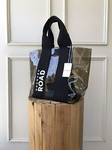| COUNTRY ROAD | trapeze clear CR logo tote bag black | NEW | $129 |