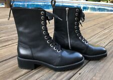 NWOB Zara Micro-studded leather biker ankle boots 5164/301 SZ 9.5 MSRP $149