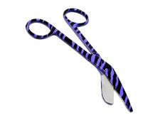 1 German Lister Bandage Nurse Scissors 55 Purple Zebra Pattern High Quality