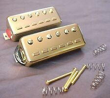 REPLACEMENT VINTAGE STAPLE STYLE MINI HUMBUCKER GUITAR PICKUP SET - GOLD