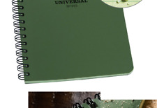"""New listing Rite in the Rain All-Weather Side-Spiral Notebook, 4 5/8"""" x 7"""", Green Cover, ."""