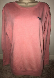 pink acid wash sweatshirt Victorias secret PINK size large!