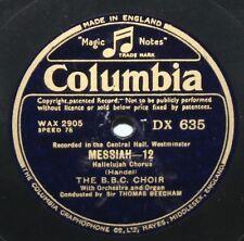 "12"" 78 - Harold Williams & The BBC Choir - Handel, Messiah - Columbia DX635"