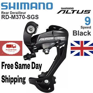Shimano Altus Rd-M370 SGS 9 Speed Rear Derailleur Long Cage Hyperglide UK