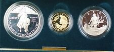 1992-W & S Gold $5 Silver $1 50 Cents Columbus Commem 3 Coin Proof Set in OGP
