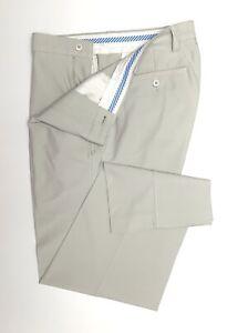 D99 FootJoy Beige Flat Front Golf Pants Mens Size 35/31 Polyester Spandex Blend