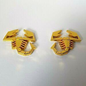 2 Or 3D Métal Scorpions Voiture Badges Stickers Pour Dodge Caliber Trajet Charge