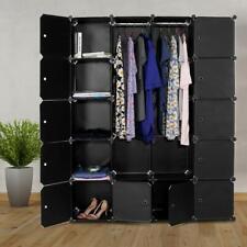 12 Cube Plastic Storage Wardrobe Clothes Modular Organizer Shelves Hanging TOP 1