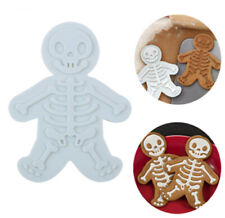 3D Plastic Skeleton Man Biscuit Cutters Halloween DIY Cake Decoration Tools