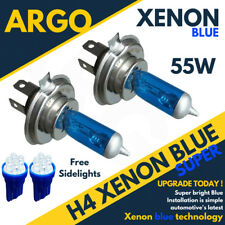2x H4 55w Blue Headlight Xenon Hid Ice Cool 501 4 Led Side Lights Car Bulbs 12v
