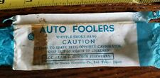Vtg Label Showa Fireworks Co. Toyko Japan Label Auto Foolers Whistle Smoke Bang