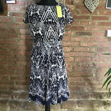 Collection WEEKEND by John Lewis Print Dress Navy White size 8