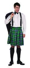 Naughty Kilt Shorts Plaid St. Pat's Irish Skirt Costume Mens Kiss My Shamrocks