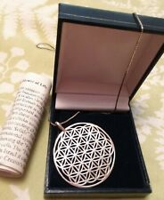 COSMIC JEWELS FLOWER OF LIFE PENDANT WITH CHAIN .925 - HEALING JEWELRY