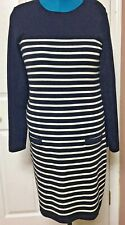 Saint James Womens  Sweater Dress Made in France Navy Blue US Size 14/ Euro 46