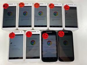 Lot of 9 Motorola E XT1526 Boost/Virgin Mobile *Check IMEI*