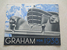 Original 1938 Graham Special and Supercharger automobiles advertising brochure