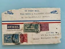 Philippines via Penang Singapore India Rangoon First Mail Flight 1933