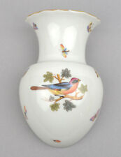 Herend (Hungary) Porcelain Wall Pocket Vase In Bird & Insect (HO) Pattern 1950s