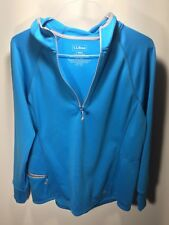 LL Bean L reg zip up hoodie sweatshirt blue womens large