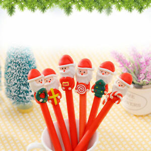 5pcs Cute Santa Claus Ball-point Pen Polymer clay pen Kids' Christmas/Xmas ss