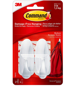 Command Damage Free Medium Hooks 2 Pack - 17081 UKN
