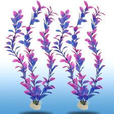 2pcs Plastic Water Plants Aquarium Grass Landscaping Ornament Fish Tank Decor